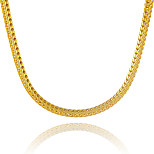 Luxury 24K Gold Plated Snake Chain Fox Tail Shape Necklace Hip Pop Punk Party Birthday Fashion Jewelry Gift