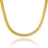 Муж. Жен. Ожерелья-цепочки Геометрической формы Змея Позолота Уникальный дизайн бижутерия Euramerican Массивные украшения Бижутерия