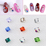 Pinpai Art 9 Colors Single Three-dimensional Flat Drill Nail Stickers Rhinestone Decoration Shaped Diamond Crystal Nail Sticker Nail Art Design