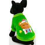 Собака Толстовка Одежда для собак На каждый день Носки детские Красный Зеленый