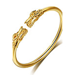 Luxury Fashion Gold Plated Dragon Open Cuff Bangle Bracelet Gothic Adjustable Jewelry Gift