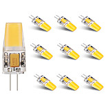 10PCS BRELONG G4 1*COB 2.5W 230-250LM Warm/Cool White AC/DC 10-16V Waterproof LED Bi-pin Lights