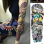 1Pcs New Removable Waterproof Temporary Tattoo Full Arm Body Shoulder  Gig Sleeve Tattoo Stickers for Men Woman