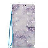 Dla samsung galaxy j3 (2017) j5 (2017) pokrowiec na niebieskim marmurze wzór 3d malowany portmonetka portmonetka portfel telefon komórkowy