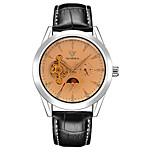 Муж. Часы со скелетом Механические часы Японский С автоподзаводом Фосфоресцирующий Кожа Группа Черный Коричневый