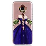 Voor Samsung Galaxy S8 plus s8 telefoon hoesje tpu materiaal meisje patroon geverfde telefoon hoesje s7 rand s7 s6 rand s6
