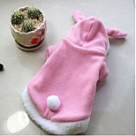 Dog Coat Hoodie Dog Clothes Casual/Daily Keep Warm Solid Blushing Pink Ruby
