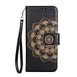 Case for Sony Xperia XA1 XA1 Ultra Case Cover Card Holder Wallet Flip Embossed Pattern Full Body Case Mandala Flower Hard PU Leather for Sony XA XP Z5