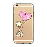 Tok iphone 7 plus 7 fedél átlátszó mintás hátlap borító szarvas léggömb puha tpu az iphone 6s plusz 6 plusz 6s 6 se 5s 5c 5 4s 4
