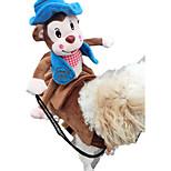 Собака Костюмы Футболка Одежда для собак Хэллоуин Животные Красный Синий Розовый