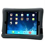 Для ipad ipad 4/3/2 чехол для случая ударопрочный с подставкой задняя крышка чехол сплошной цвет мягкий силикон