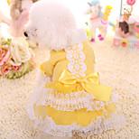 Собака Платья Одежда для собак Сохраняет тепло Принцесса Желтый Розовый