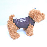 Собака Жилет Одежда для собак На каждый день геометрический Белый Черный Белый/Черный