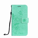 Til samsung galaxy s5 mini s4 mini kuffert kortholder lommebok med stativ flip præget fuld krops taske sommerfugl blomst hårdt pu læder