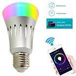 8w привело умные лампочки a19 22 smd 2835 600 lm rgbw wifi работает с app & amazon alexa echo ac 85-265v 1pc