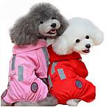 Собака Дождевик Одежда для собак На каждый день Сплошной цвет Красный Розовый