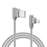 Micro USB Плетение Быстрая зарядка Кабели Назначение Samsung Huawei Sony LG Lenovo Xiaomi cm Нейлон