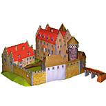 Пазлы Набор для творчества 3D пазлы Строительные блоки Игрушки своими руками Замок Плотная бумага