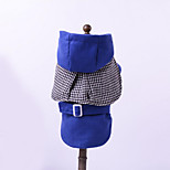 Dog Hoodie Dog Clothes Casual/Daily Solid Blue Ruby Dark Blue