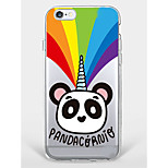Etui til iphone 7 plus iphone 6 panda mønster telefon soft shell til iphone 7 iphone6 ​​/ 6s plus iphone6 ​​/ 6s iphone5 5s se