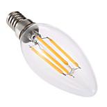 4W LED лампы в форме свечи C35 4 COB 300-400 lm Тёплый белый Диммируемая Декоративная AC 220-240 V 1 шт.