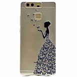 For Huawei P9 P9 Lite Pattern Case Back Cover Case Sexy Lady Soft TPU for P8 P8 Lite Y5 II / Honor 5