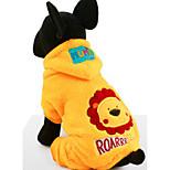 Собака Толстовки Одежда для собак На каждый день Носки детские Желтый