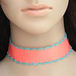 Women's Choker Necklaces Fabric Alloy Euramerican Fashion Jewelry 1pc