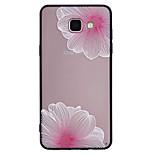 A samsung galaxy a5 (2017) a3 (2017) telefonos tok combo rózsaszín virágmintás festett lakk dombornyomott bozótos telefonos tok a5 (2016)