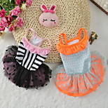 Dog Dress Dog Clothes Party Casual/Daily Birthday Wedding Princess Orange Black