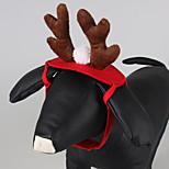 Кошка Собака Аксессуары для шерсти Одежда для собак Рождество Сплошной цвет Красный