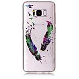 Taske til samsung galaxy s8 plus s8 telefon taske tpu materiale imd proces fjer mønster hd flash pulver telefon taske s7 kant s7 s6 kant
