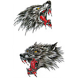 2pcs/Set Temporary Tattoos Chest Body Animal Series  3D Waterproof Tattoos Stickers Non Toxic Glitter Large Fake Tattoo Body Halloween Gift 22*15cm