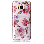 Υπόθεση για το Samsung Galaxy S8 S8 συν s8 τηλέφωνο περίπτωση tpu υλικό imd διαδικασία τριαντάφυλλα μοτίβο hd λάμψη τηλέφωνο σκόνη φλας s7
