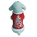 Собака Жилет Одежда для собак Рождество Буквы и цифры Красный