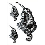 3pcs/Set Temporary Tattoos Shoulder Body Animal Series 3D Waterproof Tattoos Stickers Non Toxic Glitter Large Fake Tattoo Body  Halloween Gift 22*15cm