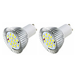 3.5W LED Spotlight GU10 16 SMD5630 360-400 Lm Warm White /White AC220-240V 2Pcs