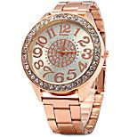 Kanima женщины бриллиант кварцевые часы из нержавеющей стали группа - розовое золото