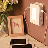 Умный творческий дом светодиодный свет контроля ночного света двойной USB зарядное устройство