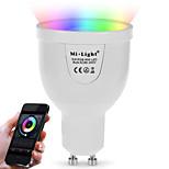 5W LED Έξυπνες Λάμπες A60(A19) 12 SMD 5730 500 lm Θερμό Λευκό RGB Διπλό χρώμα πηγής φωτόςΥπέρυθρος Αισθητήρας Με ροοστάτη Τηλεχειριζόμενο