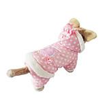 Собака Толстовки Одежда для собак На каждый день Горох Бежевый Розовый