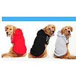 Собака Толстовка Одежда для собак На каждый день Сплошной цвет Черный Серый Желтый Красный