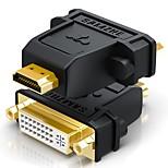 HDMI 2.0 Адаптер, HDMI 2.0 to DVI Адаптер Male - Female Позолоченная медь