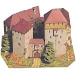 Пазлы Набор для творчества 3D пазлы Строительные блоки Игрушки своими руками Замок Ветряная мельница Плотная бумага