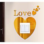 Романтика Геометрия абстракция Наклейки Простые наклейки 3D наклейки Зеркальные стикерыДекоративные наклейки на стены Наклейки для