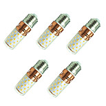 8W LED Corn Lights E27 60 SMD2835 800 Lm White/Warm White AC85-265V 5Pcs
