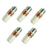 8W LED-maïslampen T 60 SMD 2835 800 lm Warm wit Wit V 5 stuks