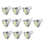3.5W LED Spotlight GU10 16 SMD5630 360-400 Lm Warm White /White AC220-240V 10Pcs