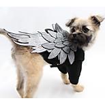 Собака Костюмы Одежда для собак Косплей Английский Черный