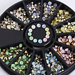1 box Bottom of The Three-Dimensional Color Diamond Decoration 2.5mm Opal Nail Art Deco Wheel
